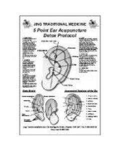 Jing Traditional Medicine 5 Point Detox Ear Chart