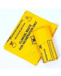 Yellow clinical waste bags Pack of 10